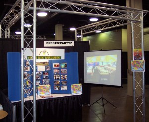 Presto Partyz booth at NACA National Convention in Nashville, TN held February 14 to 18, 2009